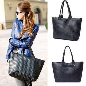 Fashion Simple new design Women Black Leather Bags Shoulder bag for Women