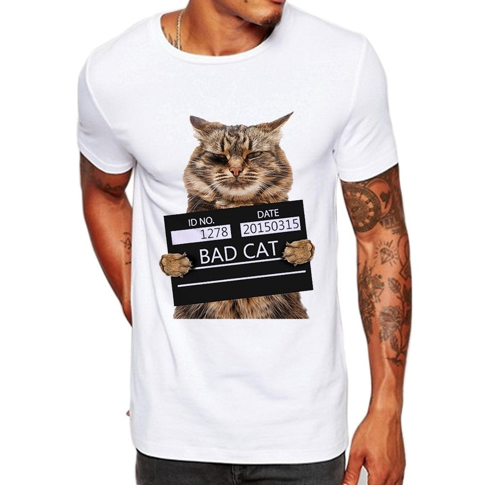 Men's Bad Cat  Print T-Shirt