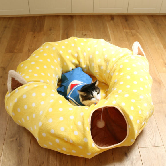 Cat Play Tunnel House and Sleep with Ball