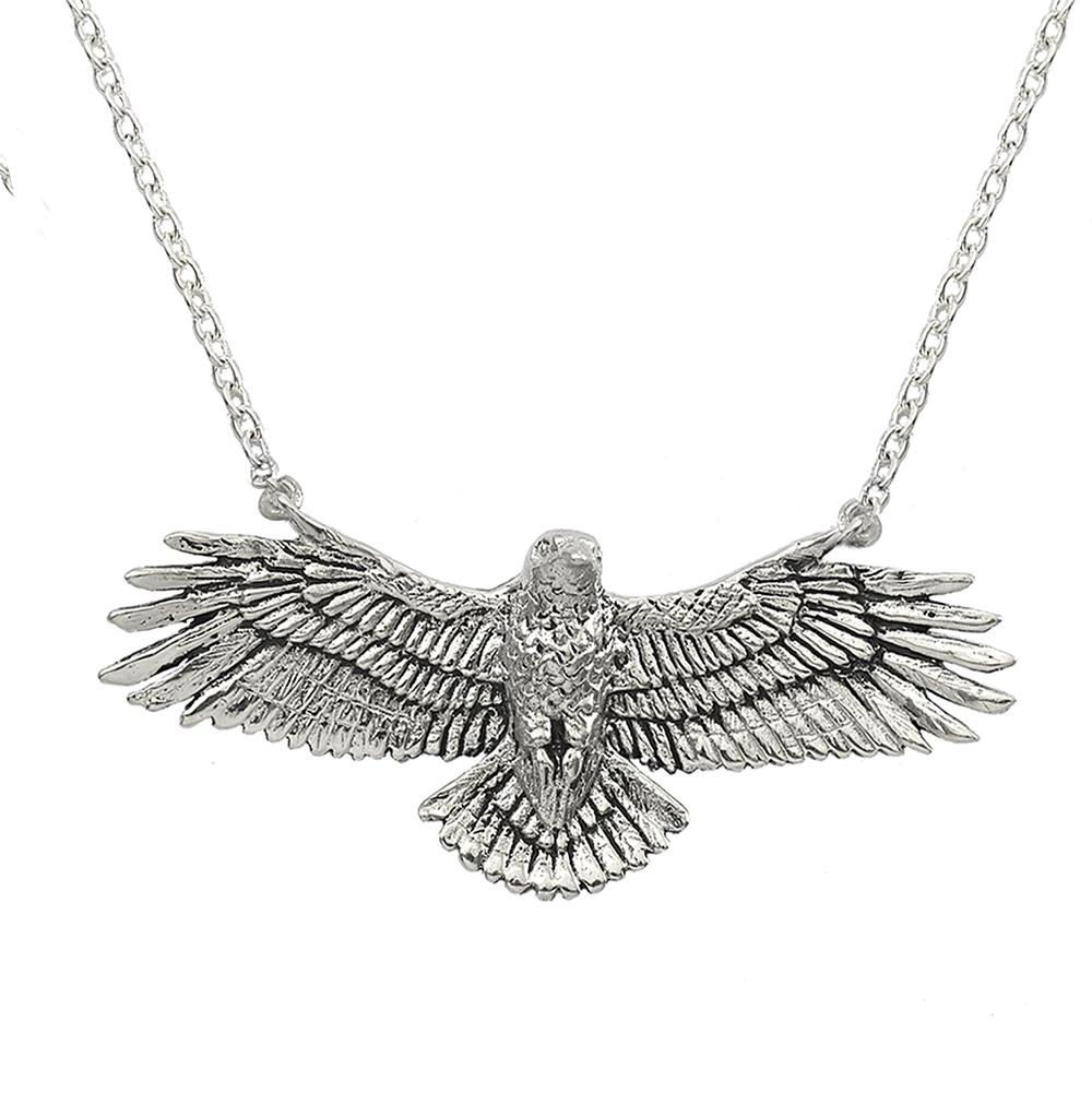 Clarity Hawk Necklace in Sterling Silver