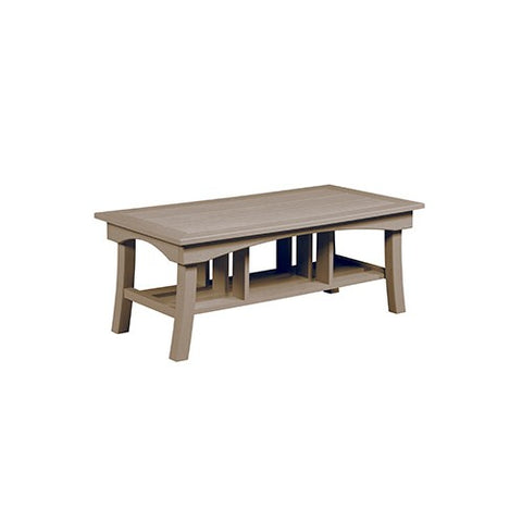 "DST167 49"" COFFEE TABLE BAY BREEZE BEIGE 07 C.R. PLASTICS OUTDOOR FURNITURE"