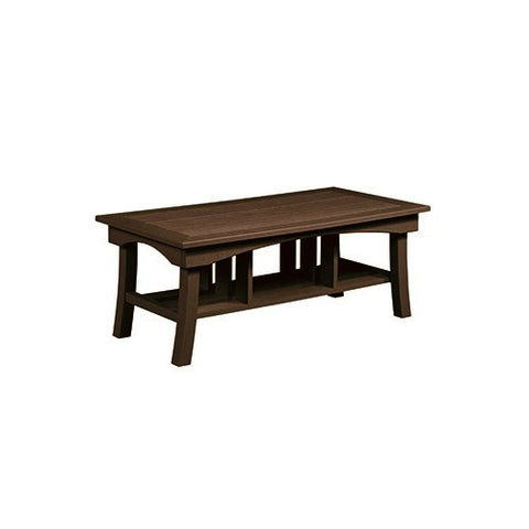 "DST167 49"" COFFEE TABLE BAY BREEZE CHOCOLATE 16 C.R. PLASTICS OUTDOOR FURNITURE"