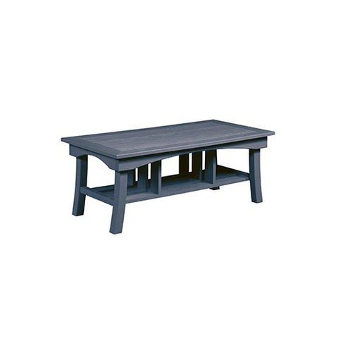 "DST167 49"" COFFEE TABLE BAY BREEZE SLATE GRAY 18 C.R. PLASTICS OUTDOOR FURNITURE"