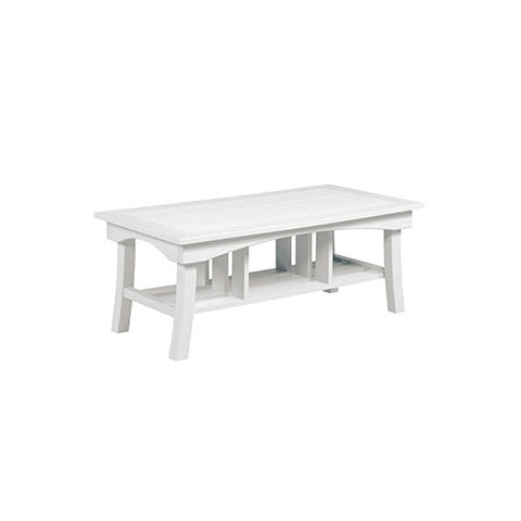 "DST167 49"" COFFEE TABLE BAY BREEZE WHITE 02 C.R. PLASTICS OUTDOOR FURNITURE"
