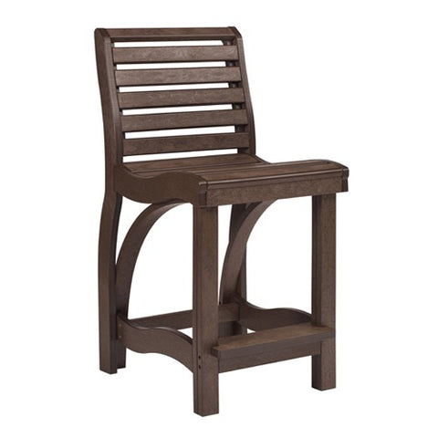 CR PLASTICS C36 COUNTER CHAIR CHOCOLATE