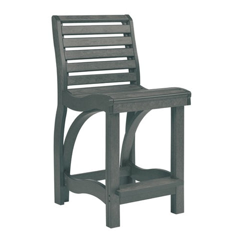 CR PLASTICS C36 COUNTER CHAIR SLATE GREY