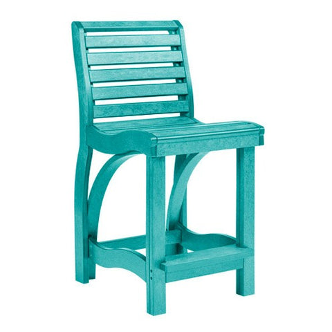 CR PLASTICS C36 COUNTER CHAIR TURQUOISE