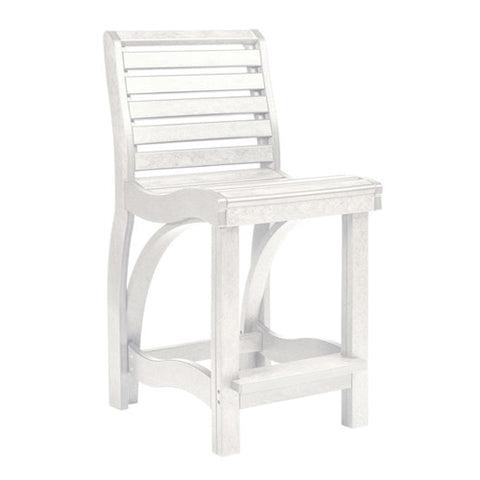 CR PLASTICS C36 COUNTER CHAIR WHITE