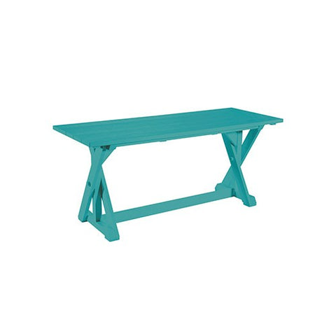 "CR PLASTICS T201 72"" DINING TABLE TURQUOISE"