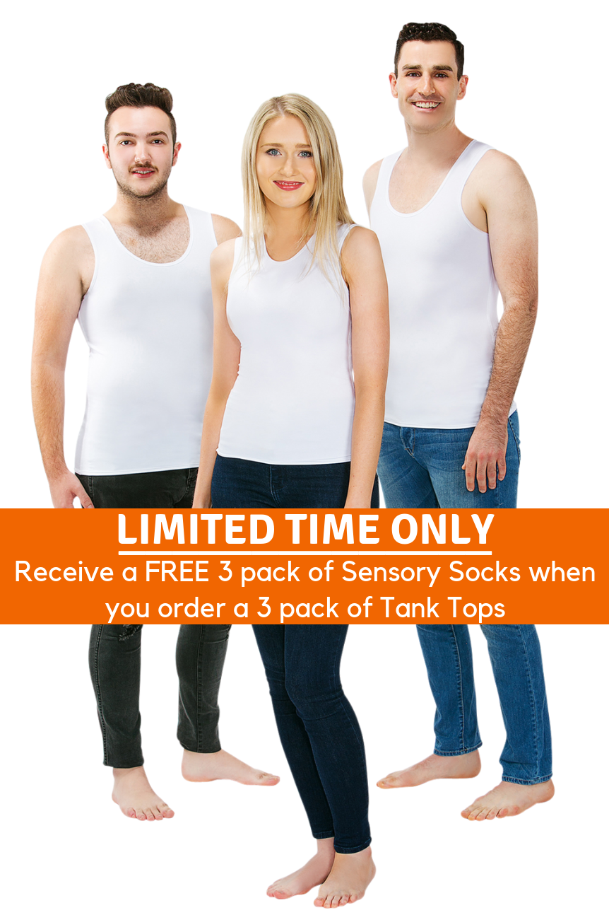 3 Pack Of CalmWear Therapy Vests | Adult - SAVE OVER $30 - PLUS 3 FREE SOCKS