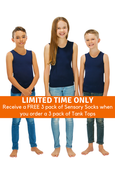 3 Pack Of CalmWear Therapy Vests | Child - SAVE OVER $30 - PLUS 3 FREE SOCKS