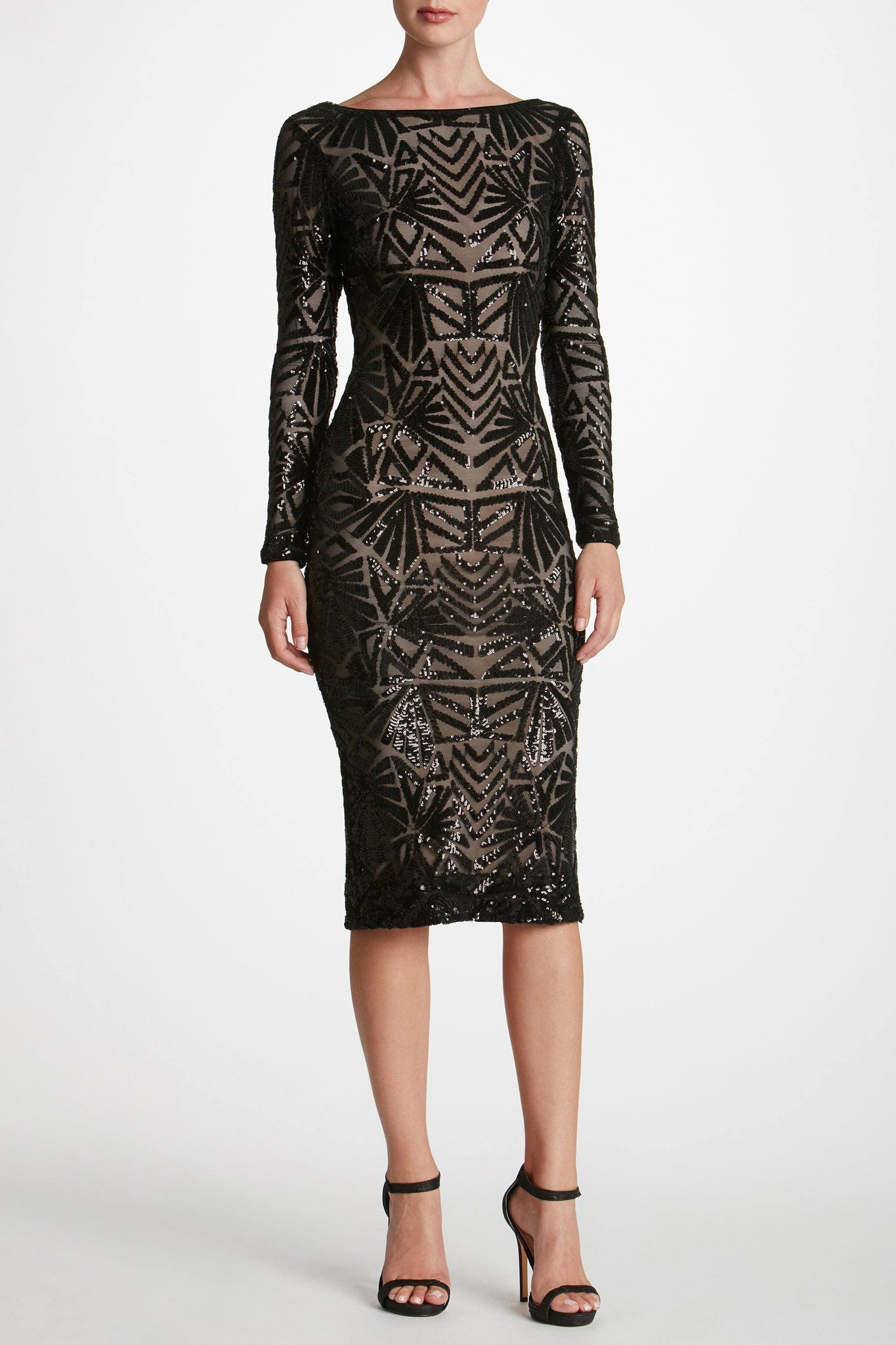 Emery Art Deco Sequin Midi Dress