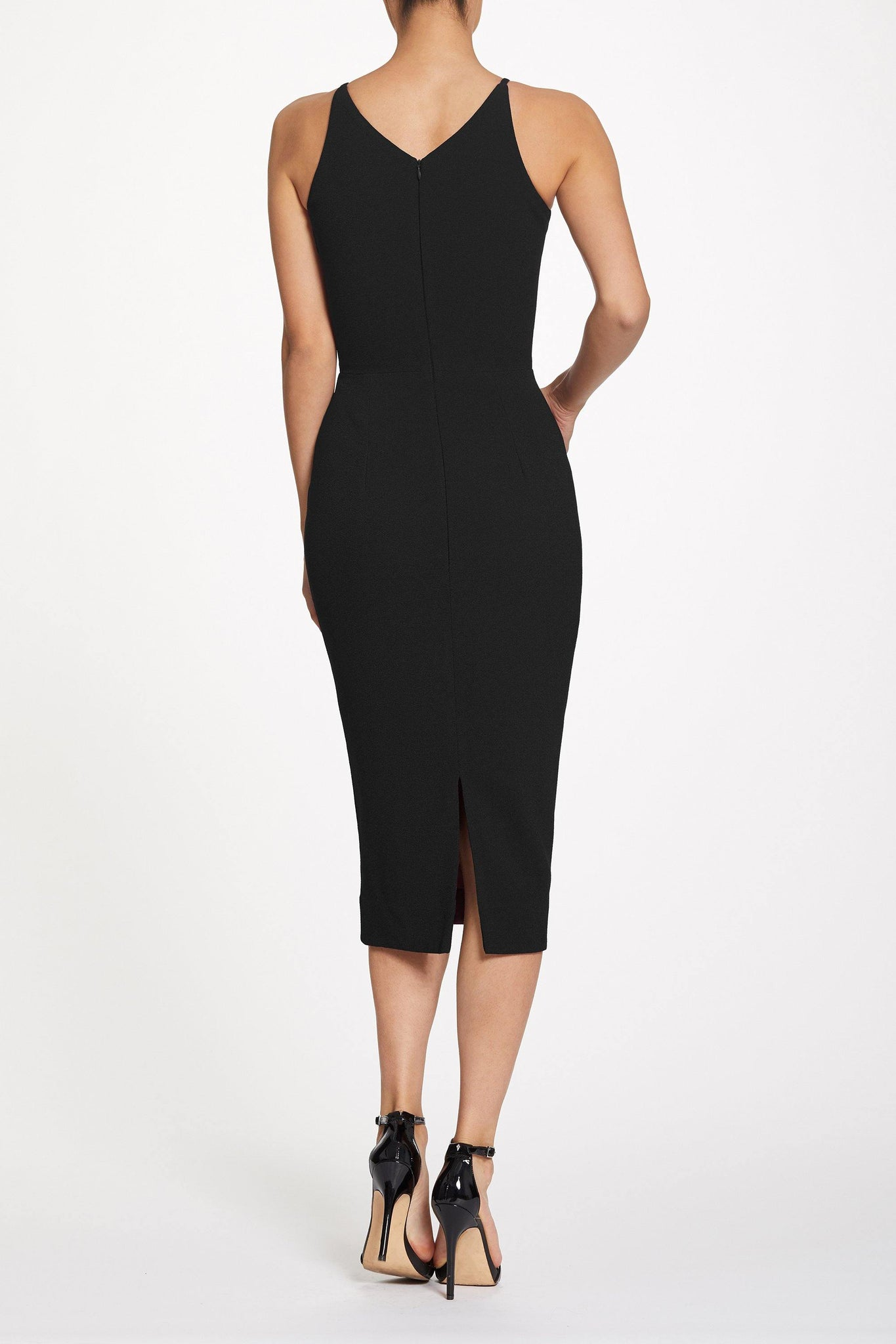 Lyla Plunging Crepe Midi Dress