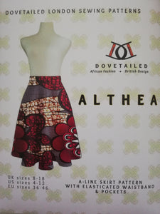 'Althea' Sewing Pattern: The A-line Skirt with an elasticated waistband and huge pockets!!