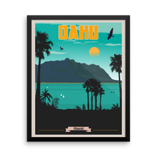 Oahu Hawaii Travel Poster
