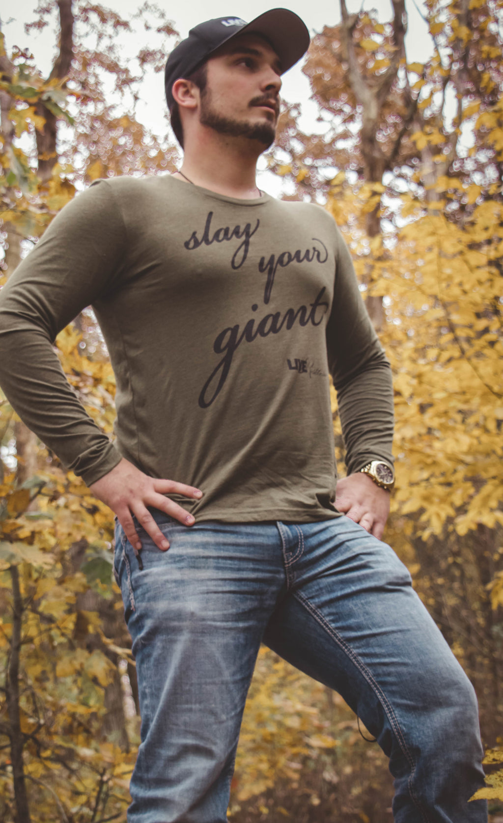Long Sleeve Slay Your Giant - Green