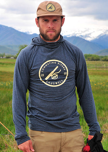 Causwell CR Stamp Adjustable Trucker CapRound Fly Reel ProTec Hooded Long Sleeve