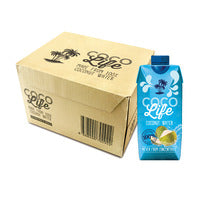 Coco Life Coconut Packet Water 12 x 330ML (CTN) | Coconut Water | Office Pantry Supplies