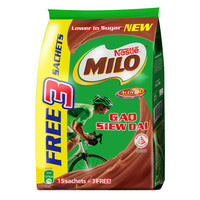 Milo Instant Chocolate Malt Drink-Gao Siew Dai 15 x 33G + Free 3 x 33G | Chocolate and Malt | Office Pantry Supplies