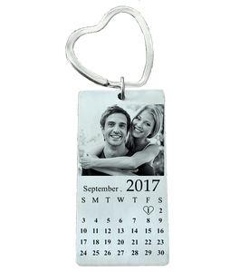Personalized Photo & Date Keychain