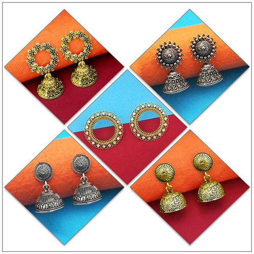 Tip top Fashions Set of 5 Earrings Pack - 1004079