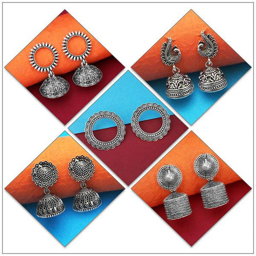 Tip top Fashions Set of 5 Earrings Pack- 1004080