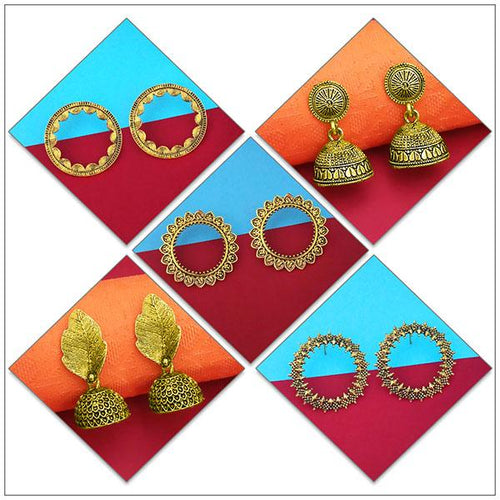 Tip top Fashions Set of 5 Earrings Pack - 1004083