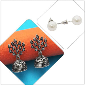 Tip top Fashions Set of 2 Earrings Combo - 1004087