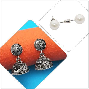 Tip top Fashions Set of 2 Earrings Combo - 1004088