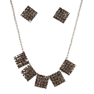 Tiptop Fashions Austrian Stone Statement Necklace Set  - 1103050
