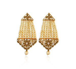 A Pasa Earrings With Austrian Stone and Pearl With Tiptop Fashions  Logo - 1313002A