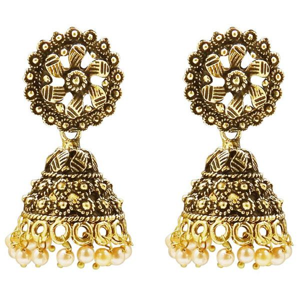 Tiptop Fashions  Gold Plated Pearl Jhumki Earring  -  Imitation Jewellery - 1311304 - 13113