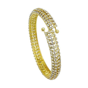 Tiptop Fashions  Austrian Stone Gold Plated Openable kada - Tiptop Fashions