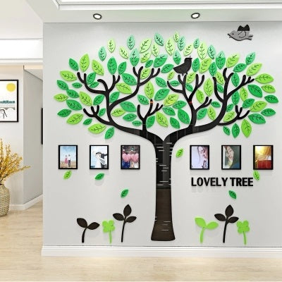 wall tree family photo frame decals