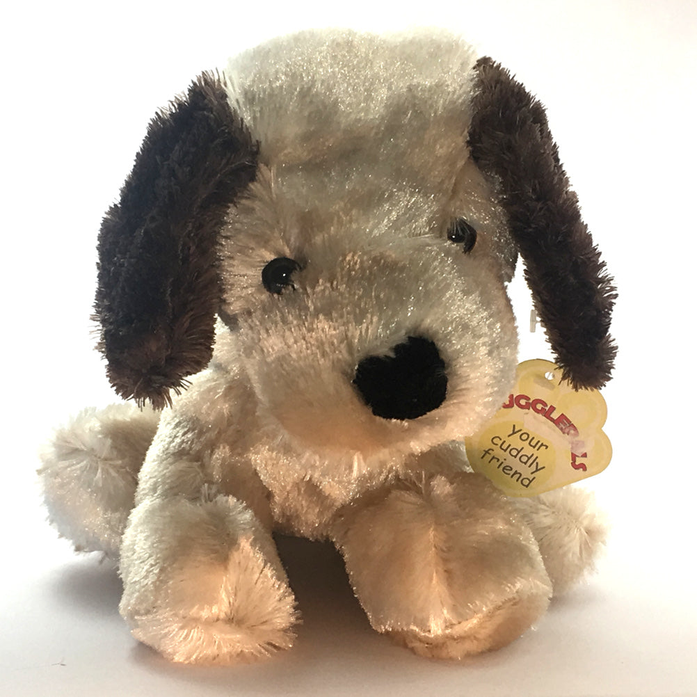 9in Satin Sheen Sitting Dog Soft Toy