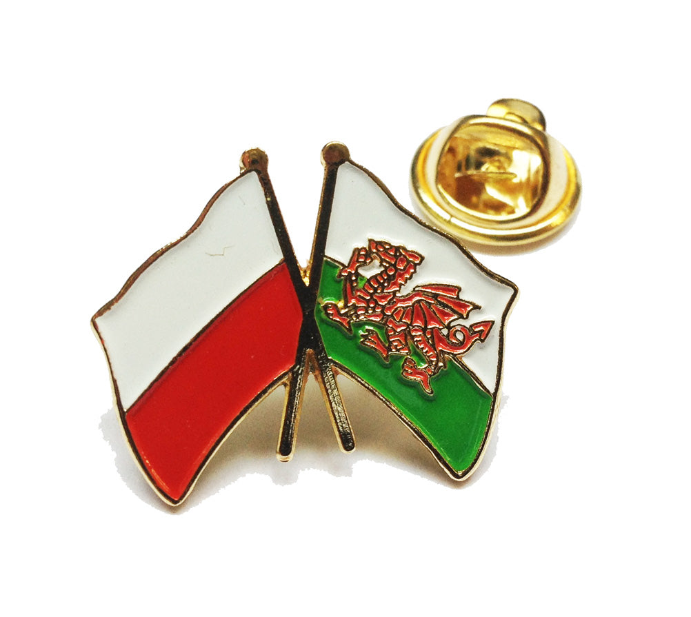 Wales / Poland Friendship Pin Badge [wb166]