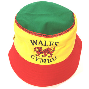 Wales Dragon Football Style Yellow Bucket Hat [wa168]