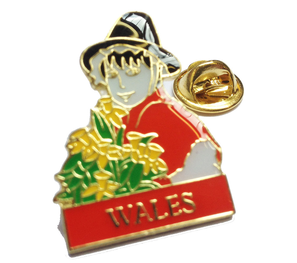 Wales Welsh Lady Bust Metal Pin Badge (ref:otk)
