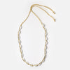 White Cowrie Shell Cord Necklace