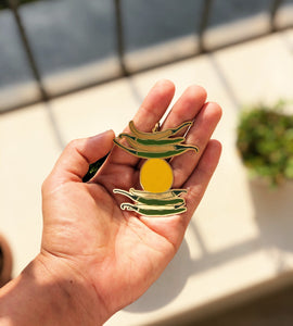 'Nimbu Mirchi' Nazar Battu Bag Tag // Lime Chili Evil Eye Charm