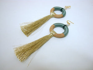 Fun Grey Tassel Earrings - Riddhika Jesrani