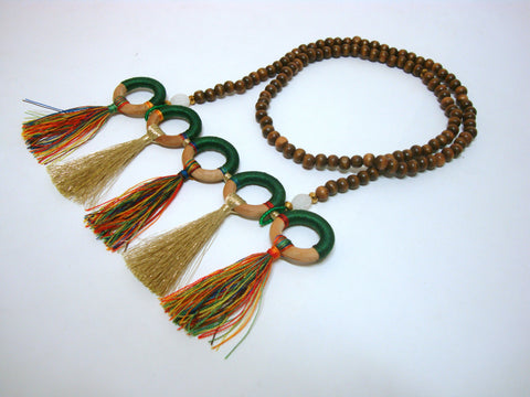 Five Loop and Tassel Summer Necklace - Riddhika Jesrani