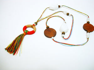 Thread Over Thread Multi-Colored Tassel Mala - Riddhika Jesrani