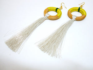 Fun Yellow Tassel Earrings - Riddhika Jesrani