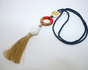 Summer Fun Blue Tassel Necklace - Riddhika Jesrani