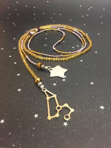 Long Open 'LEO' Necklace with star - Riddhika Jesrani