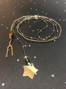 Long Open 'TAURUS' Necklace with Star - Riddhika Jesrani