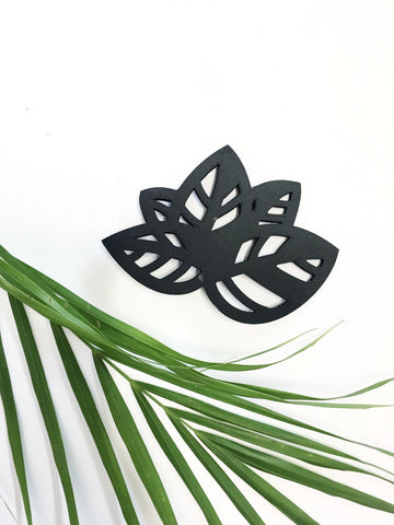 Black Leaf Brooch (Small)