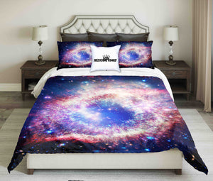Marvelous Galaxy Nebula And Stars Bedding Set | beddingkings