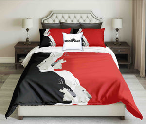 Black Red White Tigers Design Bedding Set | beddingkings